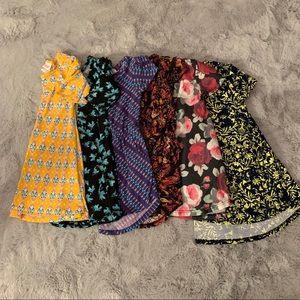 Lularoe Girls Size 2 Lot of 6 Dresses